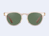 Garrett Leight Boccaccio Sun (Nude with Green Lens)