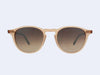 Garrett Leight Hampton Sun (Matte Pink Crystal-Matte Fawn Tortoise with Brown Layered Mirror Lens)