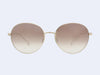 Garrett Leight Valencia Sun (Gold with Silver Flash Mirror Lens)