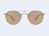 Garrett Leight Wilson Clip (Matte Gold with Peach Blaze Mirror Lens)