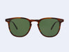 Garrett Leight Brooks Sun (Whiskey Tortoise with Green Polarised Glass)