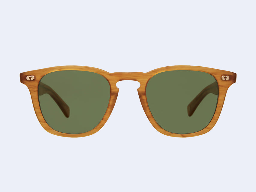 Garrett Leight Brooks X Sun (Butterscotch with Pure Green Lens)