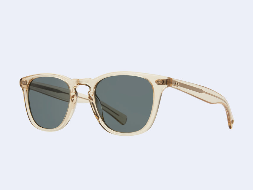 Garrett Leight Brooks X Sun (Champagne with Blue Smoke Lens)