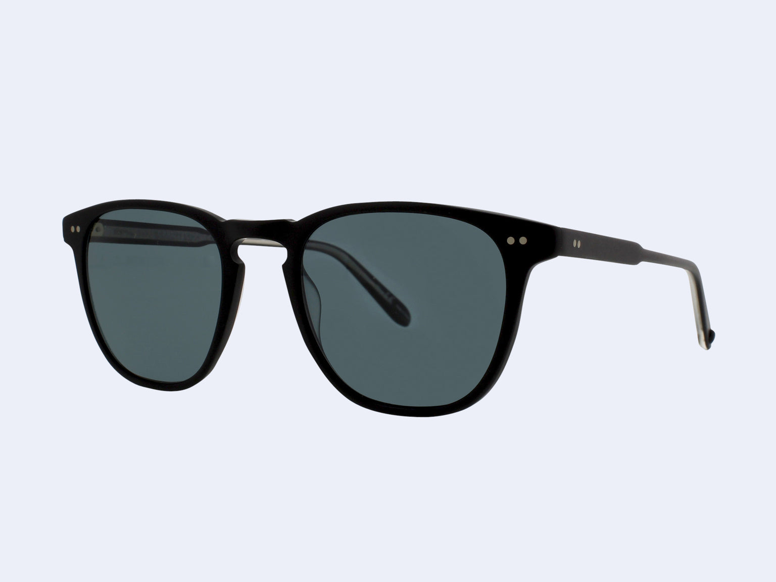Garrett Leight Brooks Sun (Matte Black with Blue Smoke Polarised Glass)