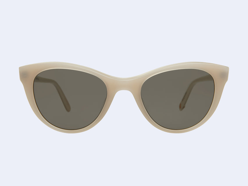 Garrett Leight Clare Vivier Ivoire (Ivory with Flat G15 Lens)