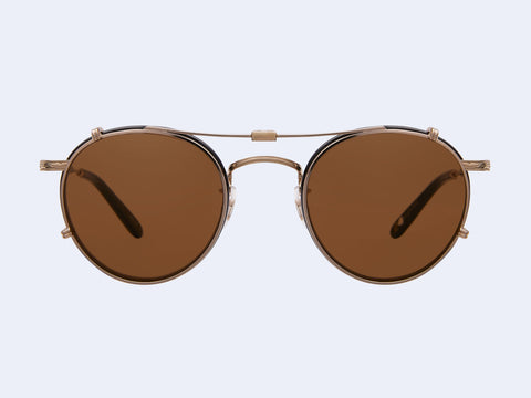 Garrett Leight Wilson Clip (Gold with Brown Lens)