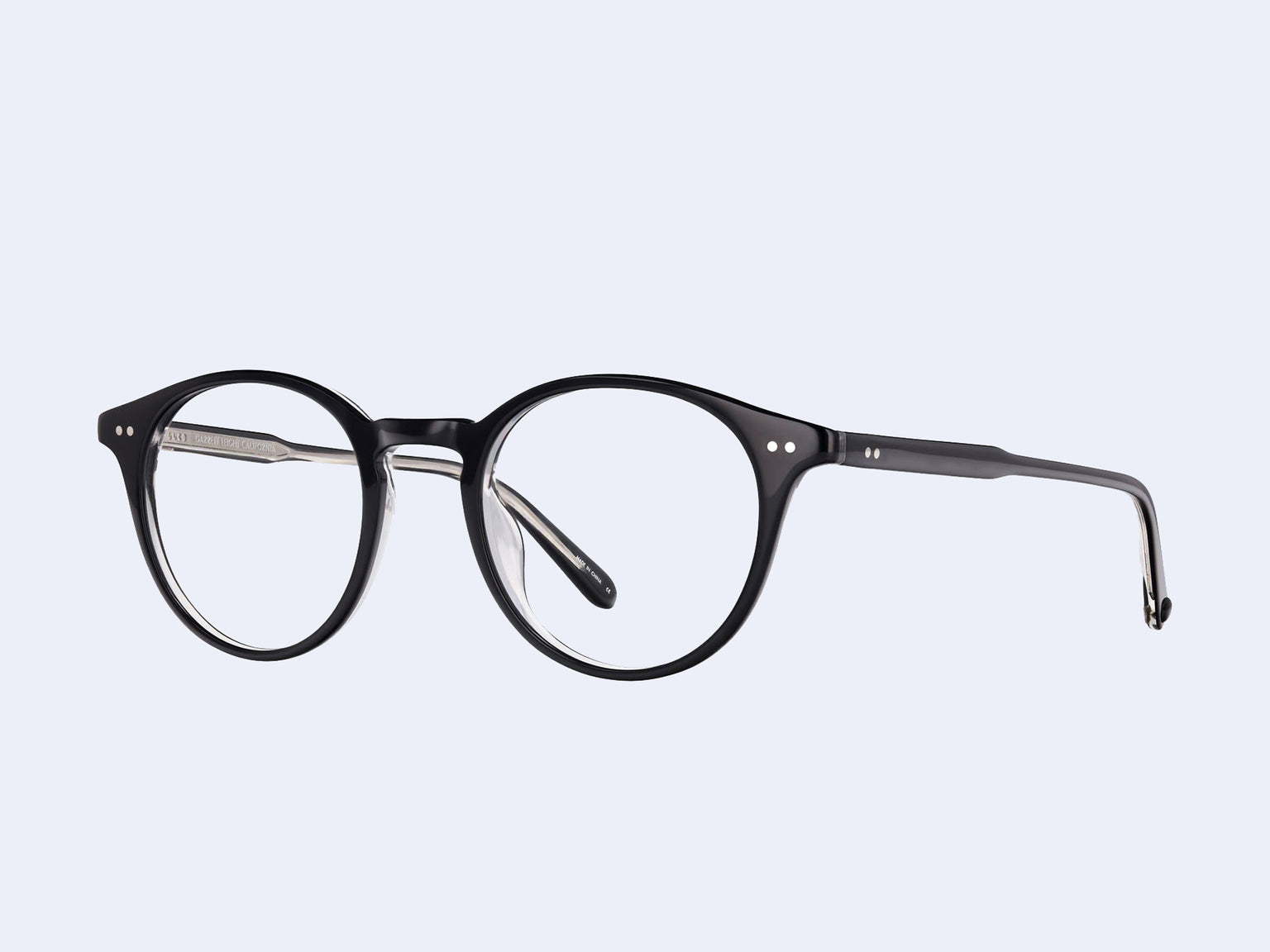 Garrett Leight Clune (Black Laminate Crystal)