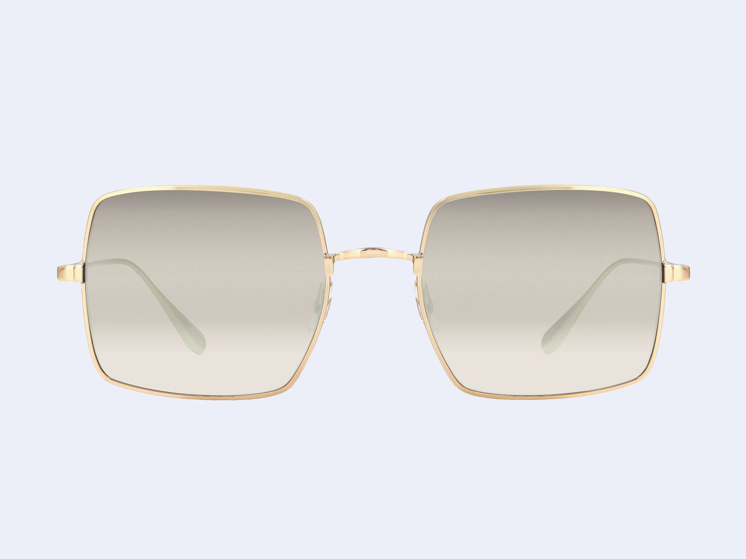 Garrett Leight Crescent Sun (Gold with Semi-Flat Dust Mirror Lens)