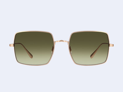 5ec7e372f3 Crescent Sun Matte Gold with Semi-Flat Olive Gradient Lens. Crescent Sun. Garrett  Leight