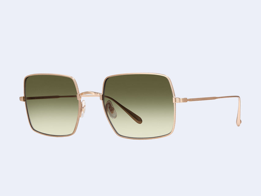 Garrett Leight Crescent Sun (Matte Gold with Semi-Flat Olive Gradient Lens)