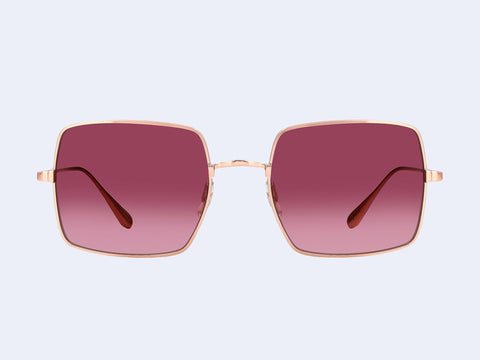 Garrett Leight Crescent Sun (Rose Gold with Semi-Flat Merlot Gradient Lens)