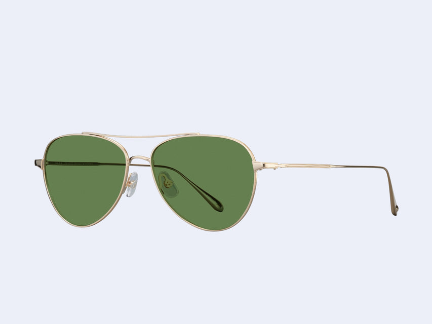 Garrett Leight Culver (Gold with Semi-Flat Pure Green Lens)
