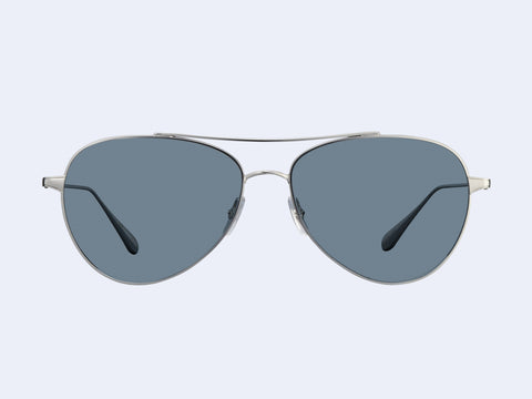 Garrett Leight Culver (Silver with Semi-Flat Blue Smoke Lens)