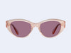 Garrett Leight Del Rey (Pink Crystal with Semi-Flat Lilac Lens)