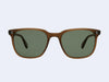 Garrett Leight Emperor Sun (Matte Espresso with Green Grey Polar Lens)