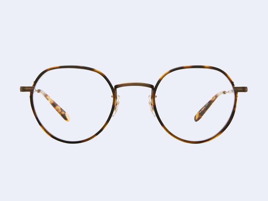 Garrett Leight Robson W (Tortoise-Antique Gold II-Yellow Tortoise)