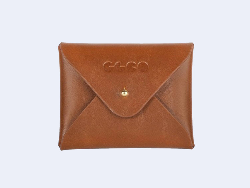 Garrett Leight Wilson M Clip-On Shield (Jasper Leather-Gold)
