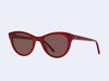 Garrett Leight Clare Vivier Coquelicot (Poppy with Flat Maroon Lens)