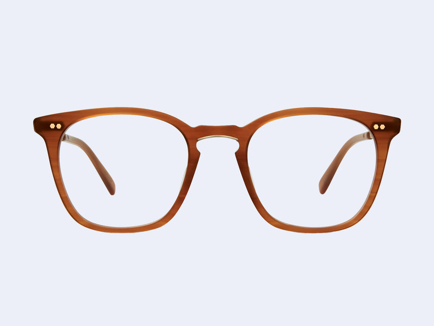 Mr Leight Getty C (Matte Caramel Tortoise-12K Matte White Gold)