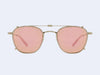 Garrett Leight Grant Clip (Matte Gold with Soft Coral Mirror Lens)