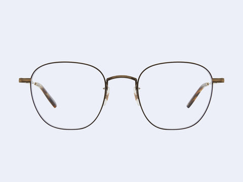 Garrett Leight Grant M (Brushed Gold-Brown Marble Tortoise)