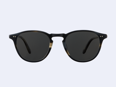 Garrett Leight Hampton Sun (Basalt with Semi-Flat Grey Black Lens)