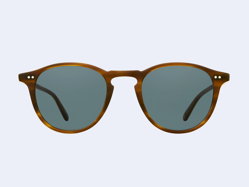 Garrett Leight Hampton Sun (Matte Saddle Tortoise with Semi-Flat Bluesmoke Lens)