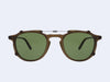Garrett Leight Hampton Clip (Matte Espresso with Green CR-39)