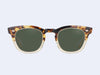 Mr Leight Hanalei S (Demi Tortoise-12K White Gold-Artist Crystal with Green Lens)