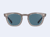 Mr Leight Hanalei S (Grey Crystal-Platinum with Blue Lens)
