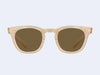 Mr Leight Hanalei S (Summit-12K Matte White Gold with Brown Lens)