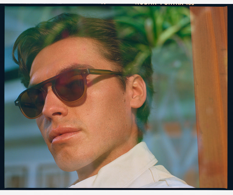 Garrett Leight Harding Sun (Champagne with Pure G15 Lens)
