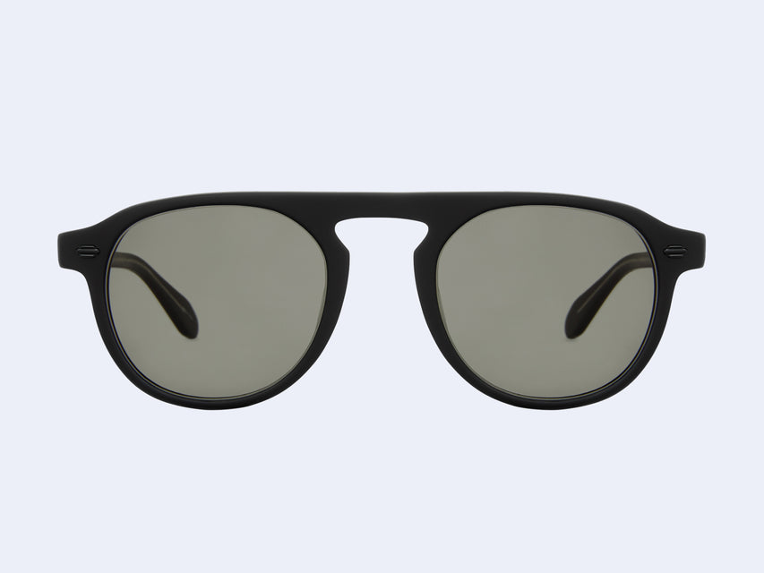 Garrett Leight Harding Sun (Matte Black with Pure Grey Lens)