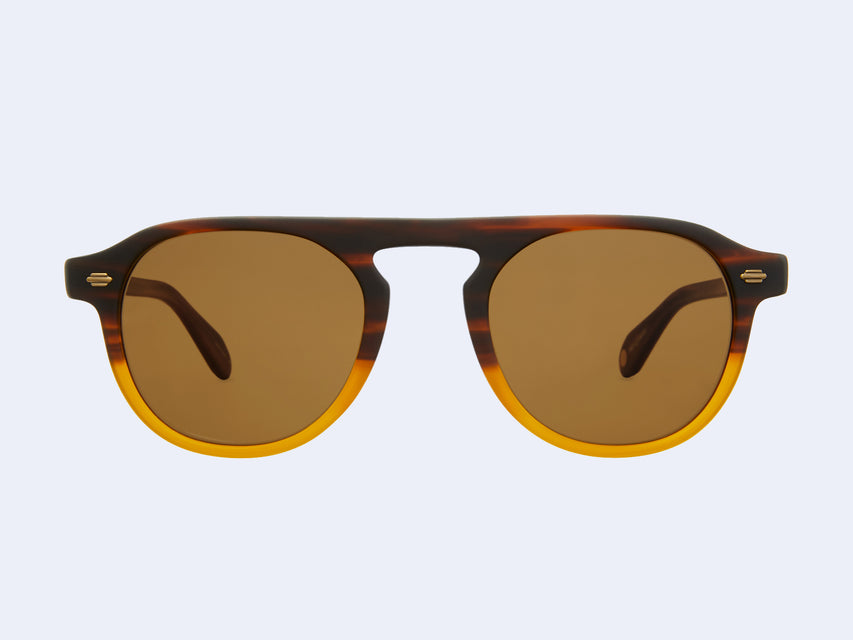 Garrett Leight Harding Sun (Matte Dk Caramel Grad with Pure Brown Lens)