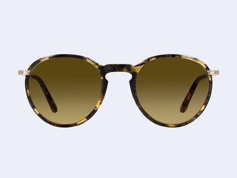 Garrett Leight Horizon Sun (Black Amber-Gold with Semi-Flat Hazel Gradient Lens)