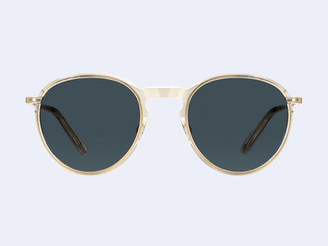 Garrett Leight Horizon Sun (Champagne-Gold with Semi-Flat Blue Smoke Lens)