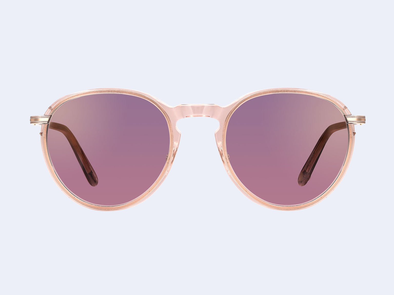 Garrett Leight Horizon Sun (Desert Rose-Rose Gold with Semi-Flat Purple Shadow Mirror Lens)
