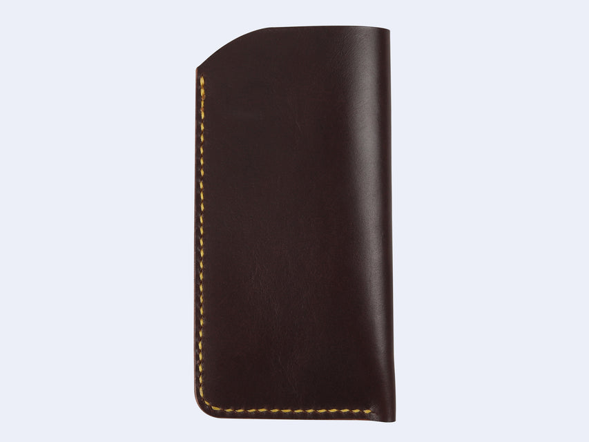 Seen Handmade Leather Slip Case (Dark Brown)