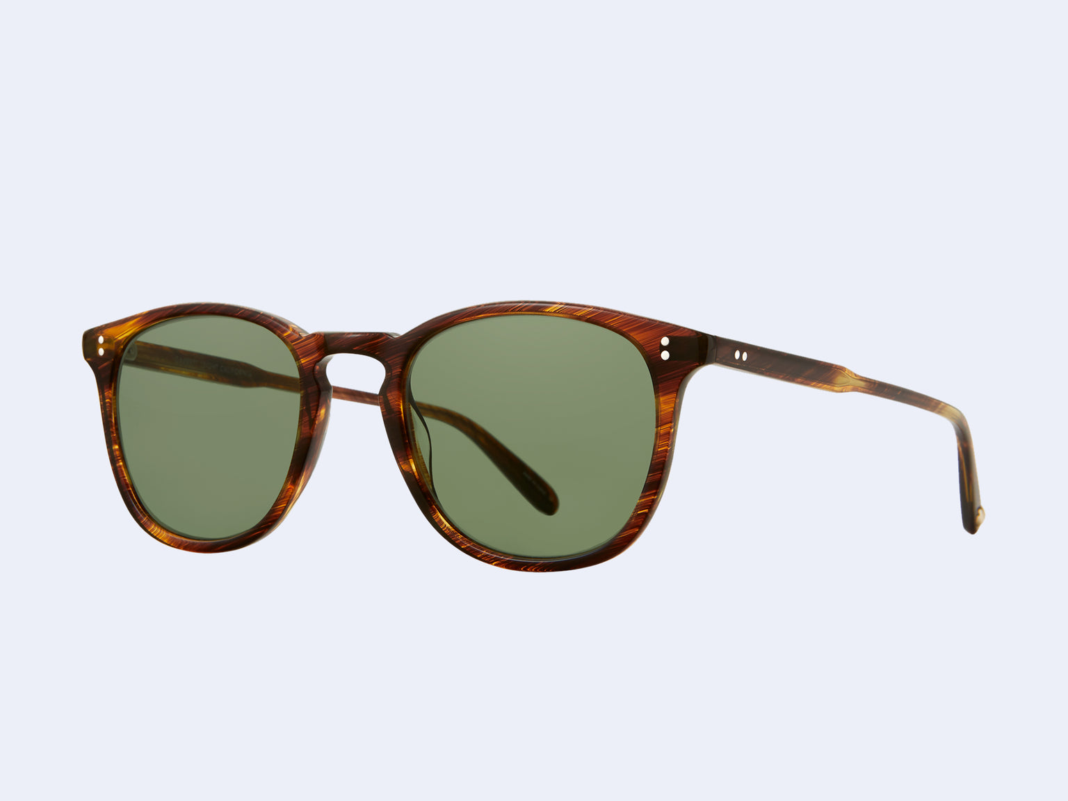 Garrett Leight Kinney Sun (Chestnut with Semi-Flat Pure Green Lens)