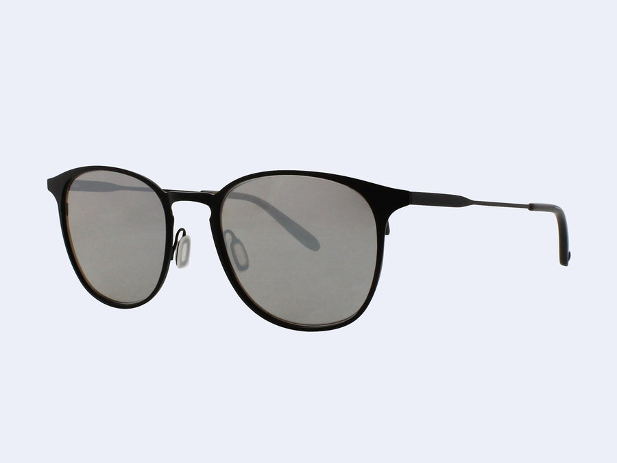 0619f3a6757 Garrett Leight Kinney M Sun (Black Glass with Black Blaze Mirror Lens) ...