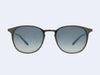 Garrett Leight Kinney M Sun (Dark Gunmetal with Lagoon Gradient Mirror Lens)