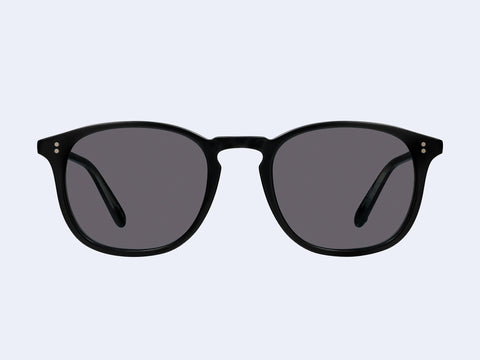 Garrett Leight Kinney Sun (Matte Black with Semi-Flat Blue Smoke Lens)