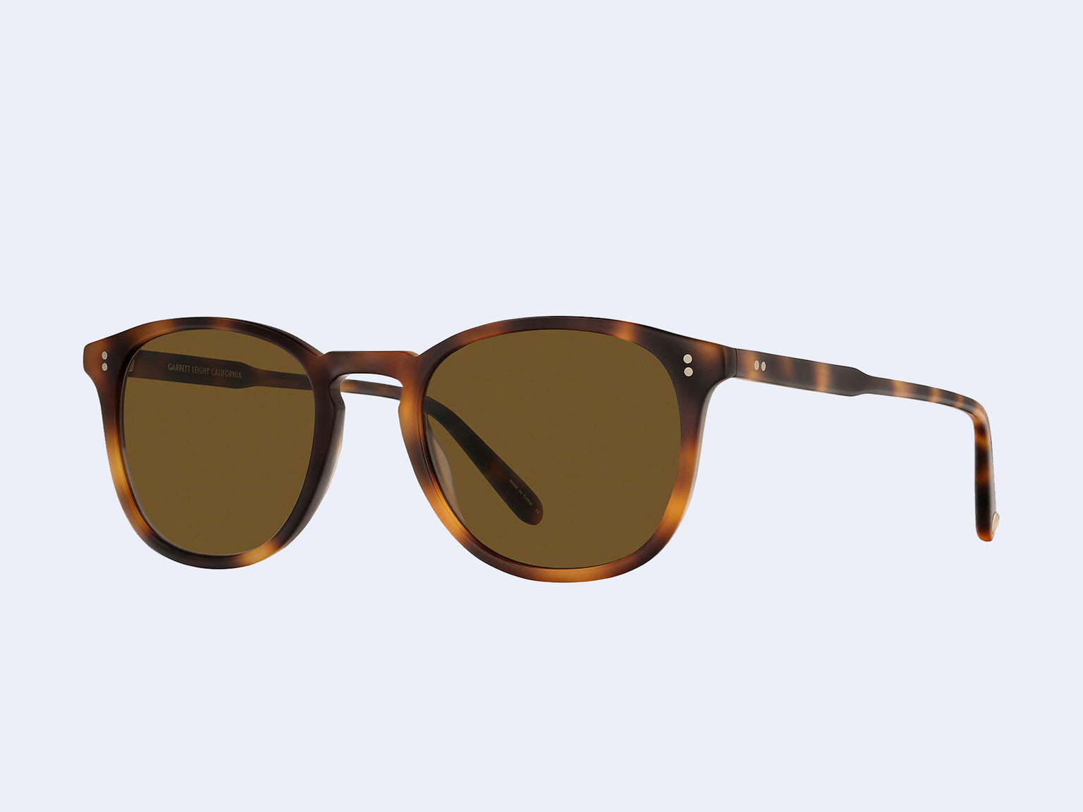 Garrett Leight Kinney Sun (Matte Classic Brown with Semi-Flat Pure Coffee Lens)