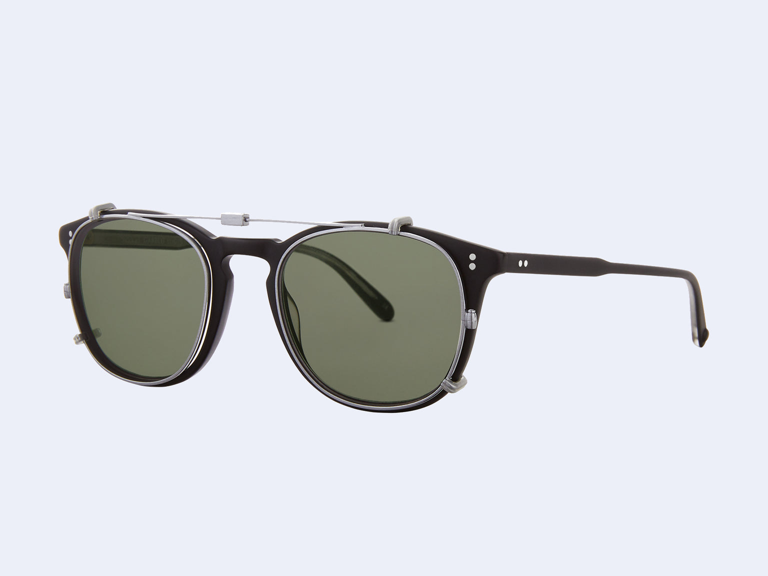 Garrett Leight Kinney Clip (Brushed Silver with G15 Lens)