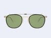 Garrett Leight Kinney Clip (Gold - Dark Golden Tortoise with Green CR-39)