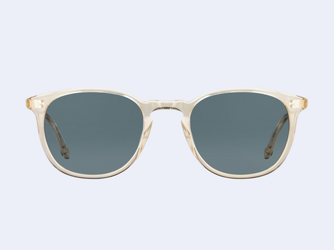 Garrett Leight Kinney Sun (Champagne with Blue Smoke Polar Lens)