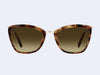 Garrett Leight Louella Sun (Brown Marble Tortoise-Gold with Semi-Flat Yellow Brown Gradient Lens)
