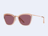 Garrett Leight Louella Sun (Pink Crystal-Rose Gold with Semi-Flat Lilac Lens)