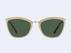 Garrett Leight Louella Sun (Toffee-Gold with Semi-Flat Green Lens)