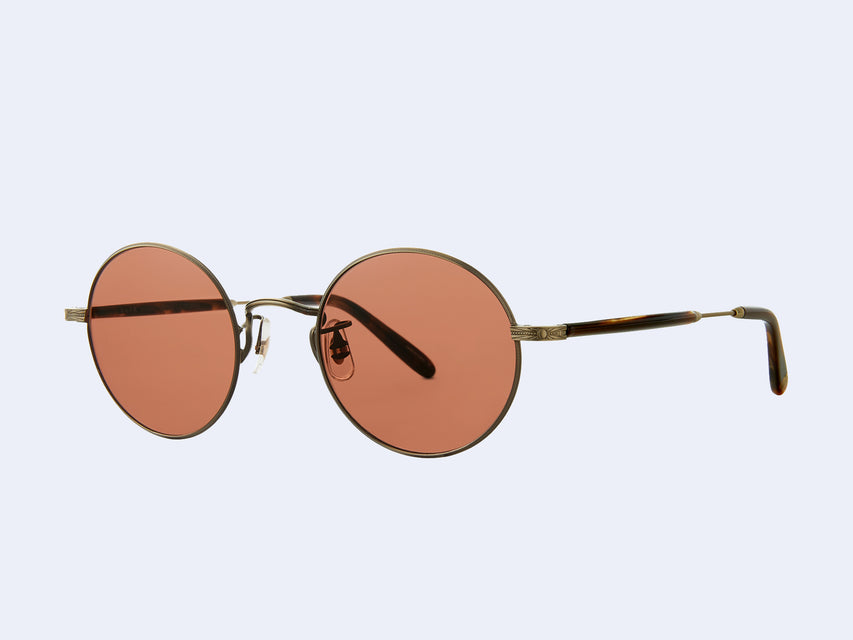Garrett Leight Lovers (Antique Gold II-Brown Marble Tortoise with Pure Rosewood Lens)